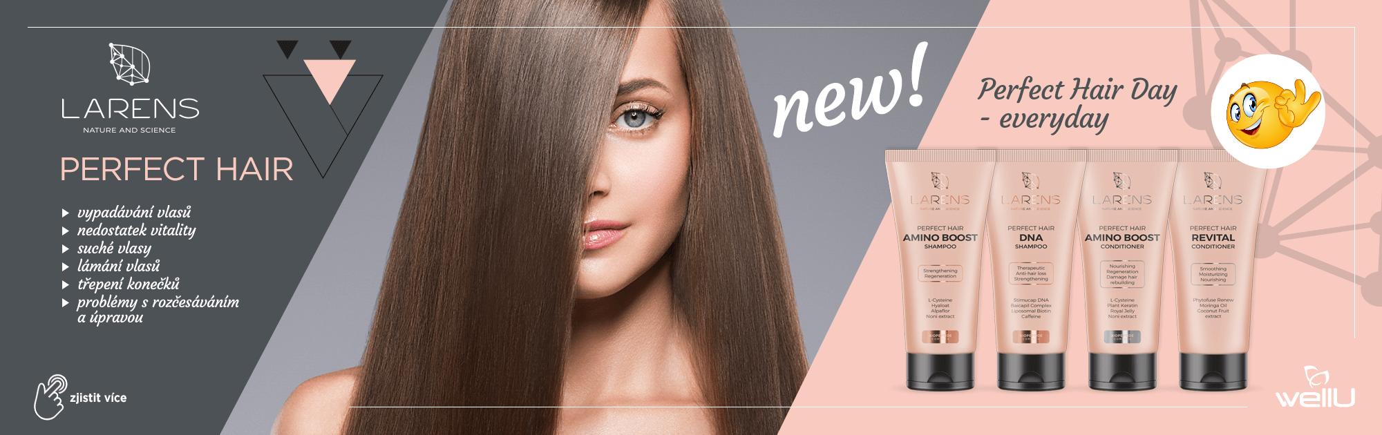 Už jste vyzkoušeli péči o vlasy řady Larens Perfect Hair?