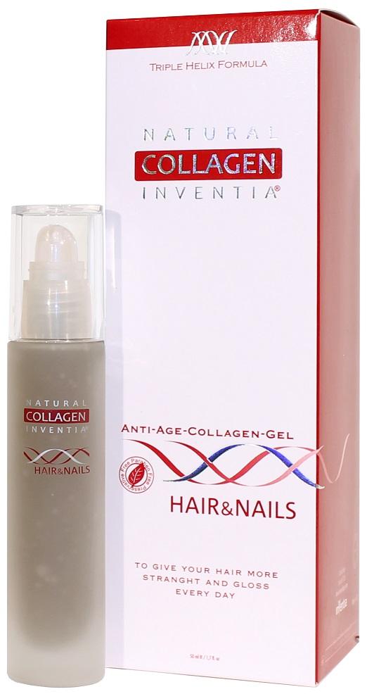 Inventia Hair & Nails - na VLASY A NEHTY Triple Helix Formula 50 ml (Živý hydrát kolagenu. Biologicky aktivní přírodní kolagen na vlasy a nehty - na vlasy, nehty, lupy, paty, klouby, pomáhá i při plísních nohou. Biologicky aktivní Natural Collagen.)